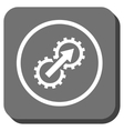 Gear Integration Rounded Square Icon vector image vector image