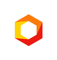 geometry cube polygon technology logo vector image vector image