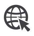go web icon vector image