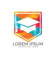 graduation cap logo education logo vector image