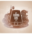 Graphic Thanksgiving day hat vector image vector image
