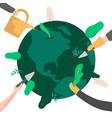green planet earth environment concept vector image