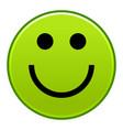 green smiling face cheerful smiley happy emoticon vector image