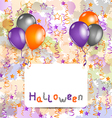 Halloween card with set colorful balloons and vector image