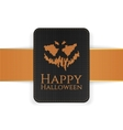 Halloween Holiday creepy Card Template vector image vector image