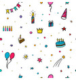 Happy birthday party seamless pattern