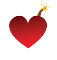 Heart bomb vector image vector image