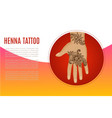 henna tatto mehndi flowers on vector image