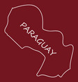 high resolution paraguay map with country flag vector image vector image