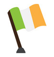 isolated flag of ireland vector image vector image
