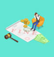 isometric concept fine or penalty vector image