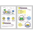 line art training poster banner template vector image vector image