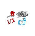 logotype j modern template set vector image vector image