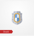medieval shield with flag flat icon vector image vector image