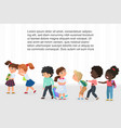 multiracial children kids bullying pointing and vector image vector image