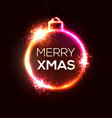 neon christmas decoration xmas background vector image