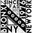 new york city slogan t shirt graphics tee print vector image vector image
