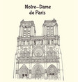 notre dame de paris cathedral in france vector image vector image