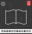 open book symbol icon vector image