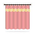 Pink Curtain On White Background vector image vector image
