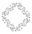 round flower frame hand drawn sketch doodles vector image vector image