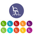 salon chair icon simple style vector image vector image