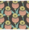 seamless pattern exotic colored flowers vector image vector image