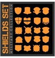 Shield frames icons set - military shields vector image vector image
