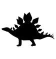 silhouette stegosaurus vector image vector image