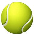 Single light green tennis ball vector image vector image