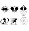 six boxing club logos vector image vector image