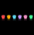 six jellyfish icon set line cute cartoon kawaii vector image
