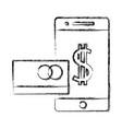 smartphone online payment vector image