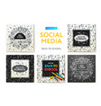 social media templates back to school education vector image vector image
