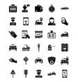 taxi services solid icons vector image vector image