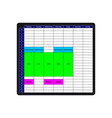 the week time table mockup the tasks planner with vector image vector image