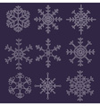 various types of outline white snowflakes eps10 vector image vector image
