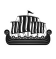 vikings sail boat or scandinavian drakkar vector image