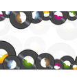 Vinyl music background vector image