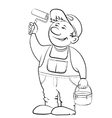 Worker house painter contour vector | Price: 1 Credit (USD $1)
