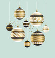 xmas and new year fancy decoration elements vector image