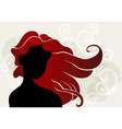 Young woman with wavy hair vector image vector image