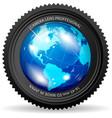 zoom world vector image vector image