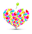 Heart Shape with Colorful Balloons Isolated on vector image