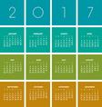 2017 boxes Calendar vector image vector image