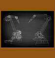 3d model of a welding robot vector image vector image