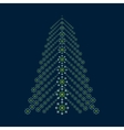 Abstract Christmas tree from snowflakes vector image vector image