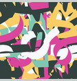 abstract graffiti seamless pattern vector image vector image