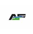 AF company linked letter logo vector image vector image