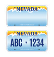 american nevada car license plate vector image